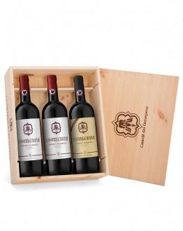 """""""La tradizione"""" 3 bottiglie con cassetta di legno"""