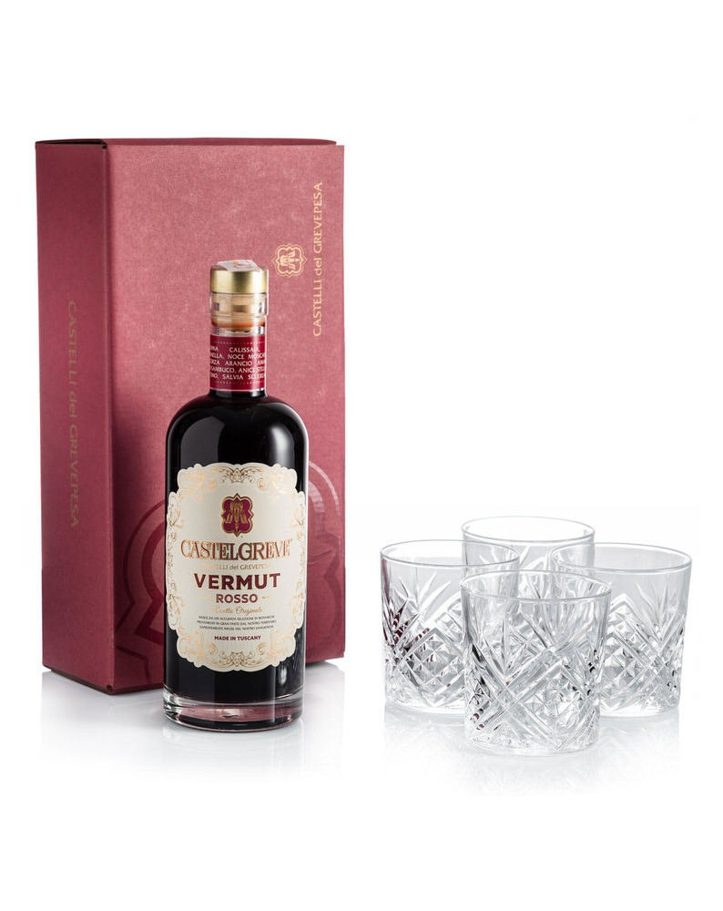 Vermouth Castelgreve 750ml - Pack with 4 glasses