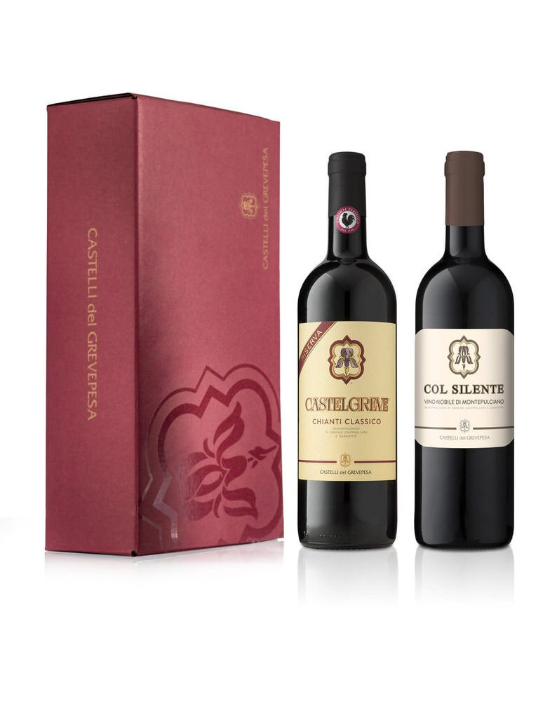 """copy of """"3 Sangiovese"""" with wooden box - 2"""